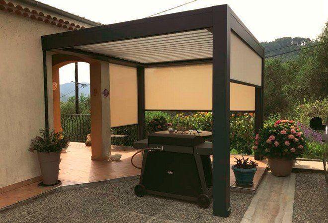 Terrasse avec pergola Art Home Alu et stores intégrés